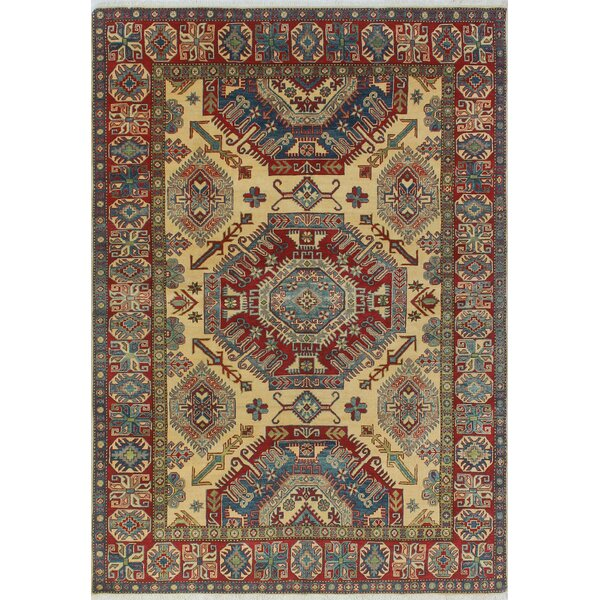 One-of-a-Kind Wendland Philip Hand-Knotted Yellow Area Rug by Loon Peak