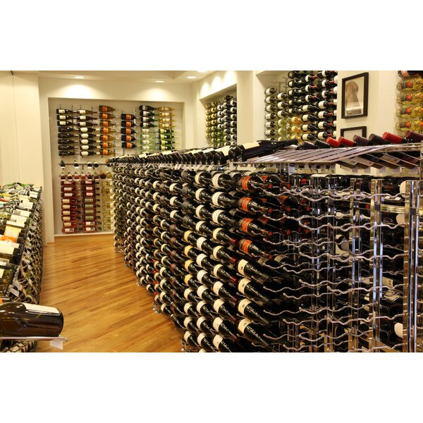 Illinois 90 Bottle Floor Wine Bottle Rack by Rebrilliant Rebrilliant