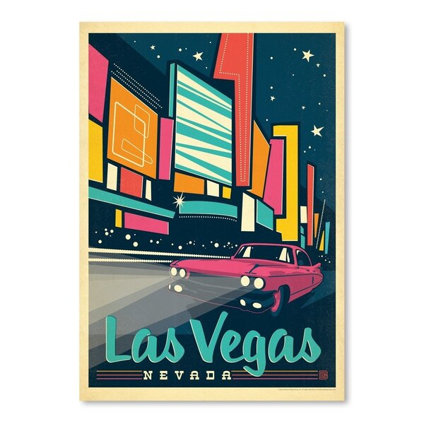 Las Vegas: Modern Print Vintage Advertisement by East Urban Home