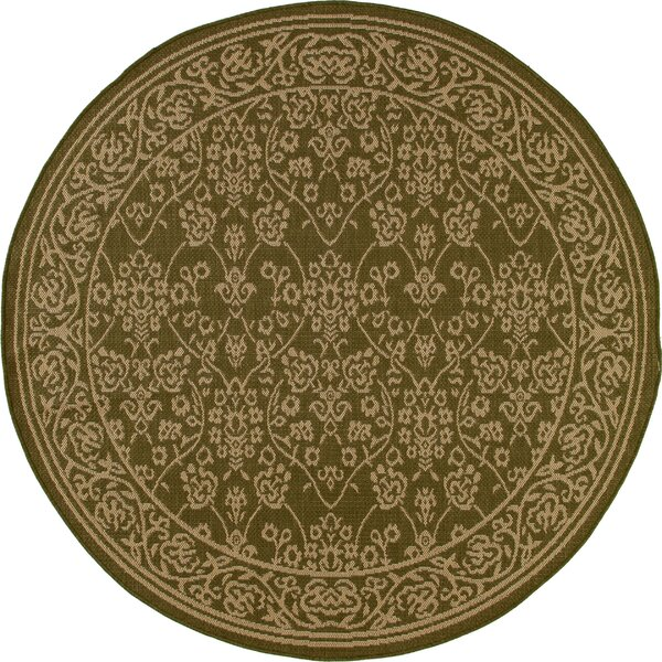 Beaminster Green/Beige Indoor/Outdoor Area Rug by Fleur De Lis Living