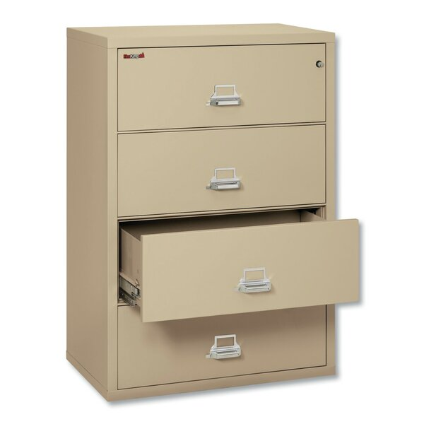 FireKing® Insulated Lateral File 4-Drawer Vertical Filing Cabinet