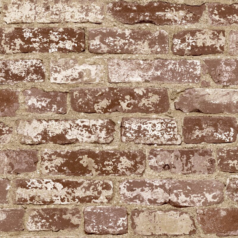Brick distressed wallpaper reviews joss main for Distressed brick wall mural