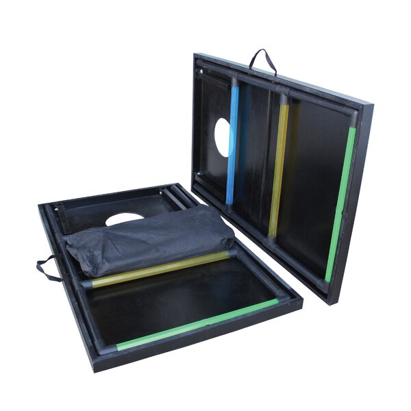 2-in-1 Tournament Bag Toss and Ladder Toss Set by Triumph Sports USA