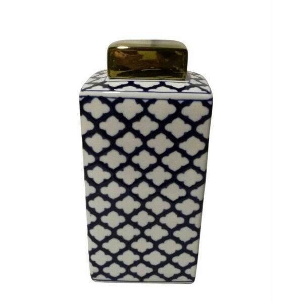 Fine-Looking Ceramic Covered Square Storage Jar by Longshore Tides