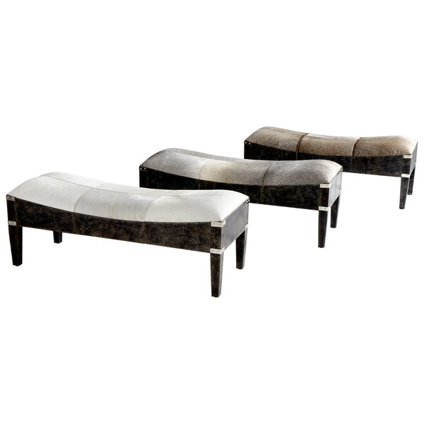 Fabulous Hyde on Cowhide Upholstered Bench by Cyan Design