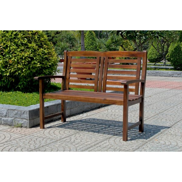 Pine Hills Traditional Outdoor Wood Garden Bench by Beachcrest Home
