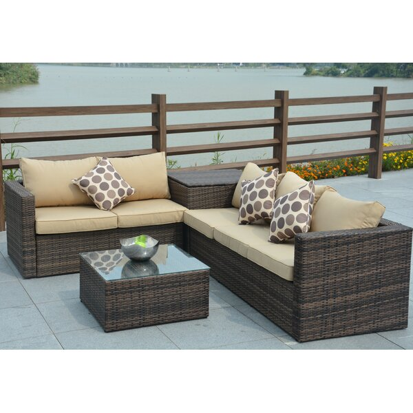 Faust 4 Piece Sofa Set with Cushions by Alcott Hill