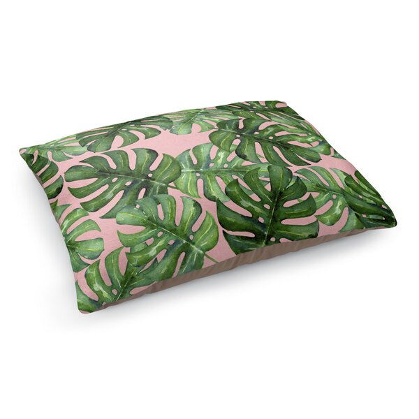 Tropical Leafs Pet Bed Pillow by KAVKA DESIGNS