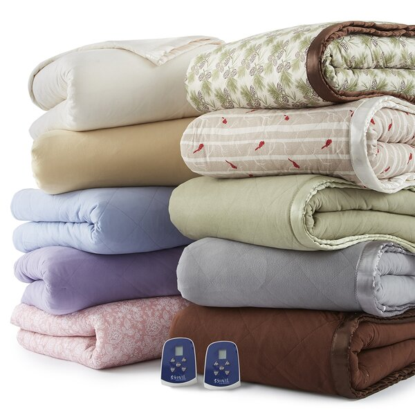 Mirren Enchantment Rose Electric Heated Blanket by Darby Home Co