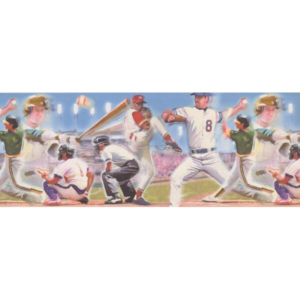 Colunga Baseball Design Wallpaper Border by Harriet Bee