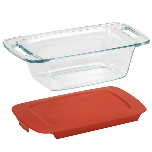 Easy Grab 1.5 Qt. Loaf Dish with Plastic Cover by Pyrex