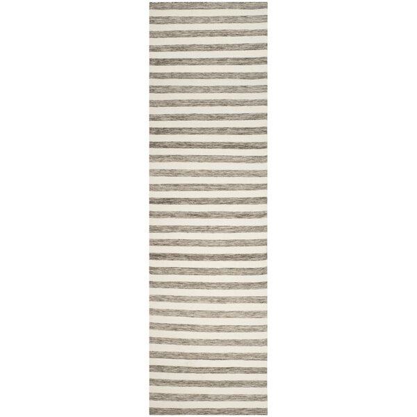 Dhurries Hand Woven Wool Brown/Ivory Area Rug by Safavieh