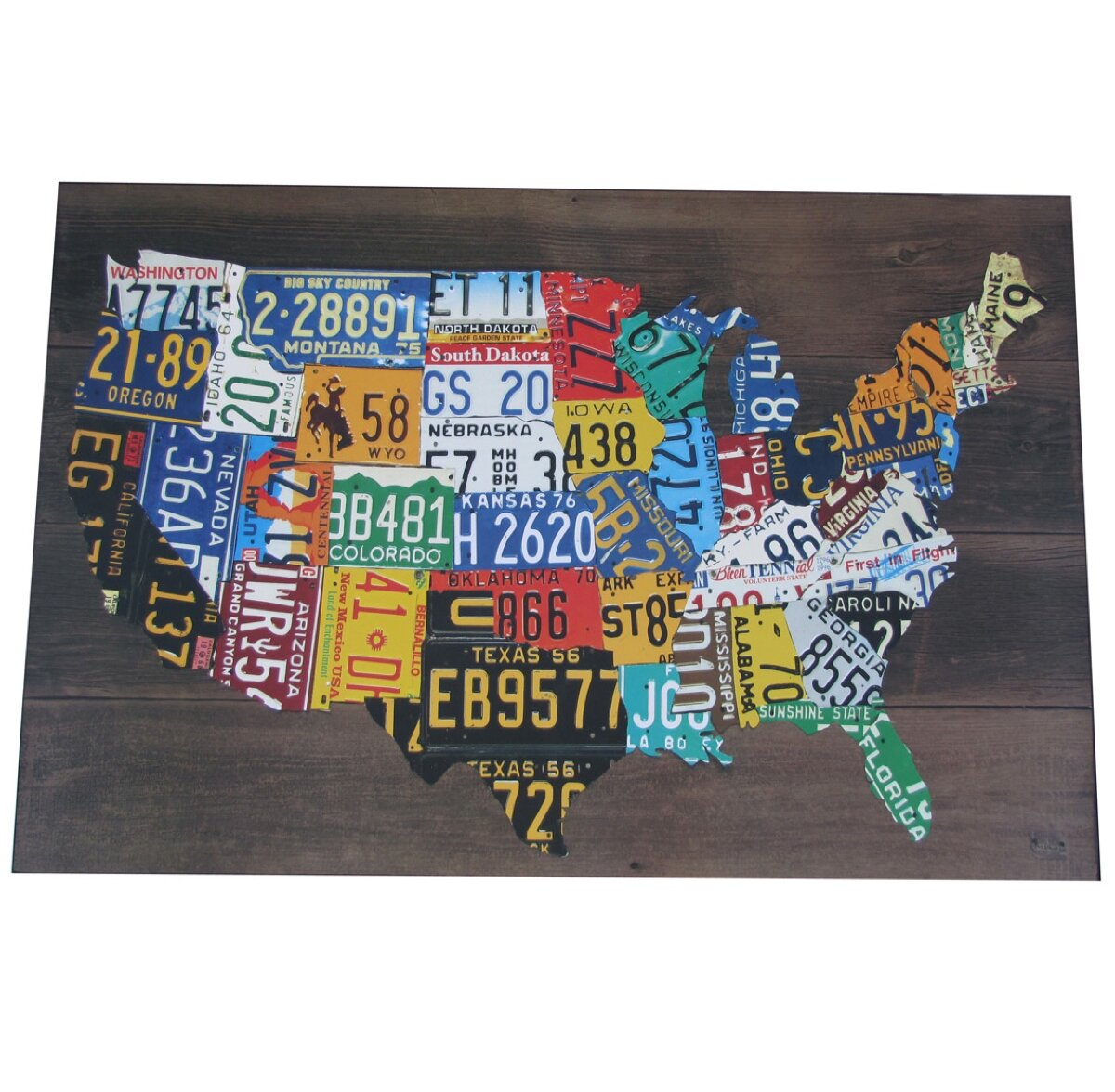Bamboo Wood Design License Plate Tag Frame for Auto-Car-Truck
