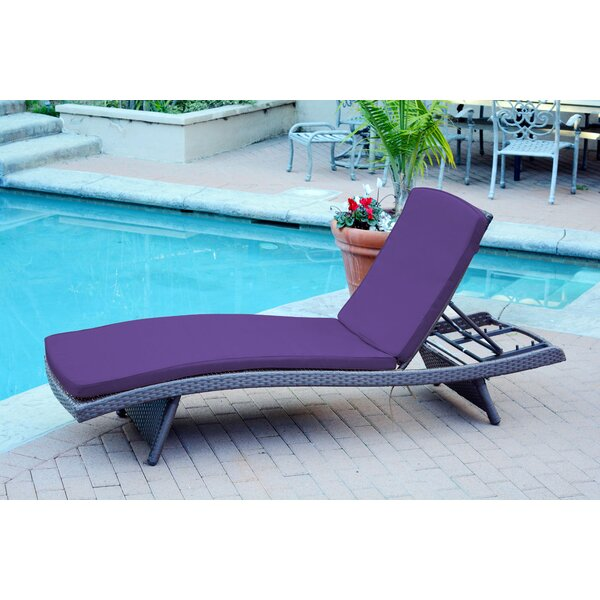 Valery Reclining Chaise Lounge with Cushion