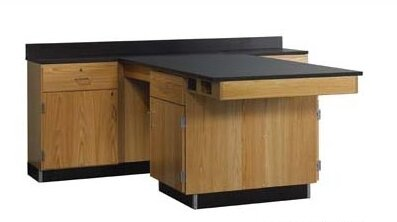 Perimeter Workstation With Door, Drawer, Sink & Fixtures by Diversified Woodcrafts