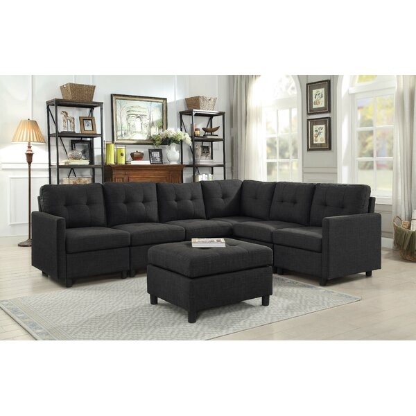 Nice Classy Wetherby Reversible Sectional with Ottoman by Ebern Designs by Ebern Designs