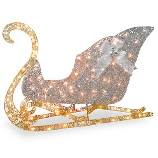 crystal sleigh christmas decoration