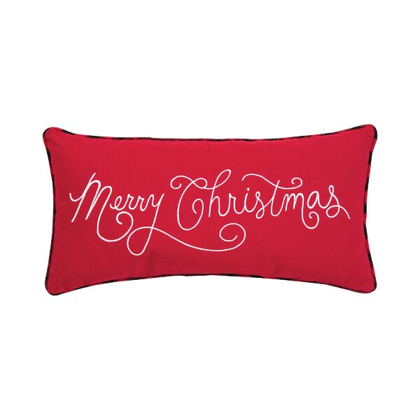 Mauney Merry Christmas Lumbar Pillow by The Holiday Aisle