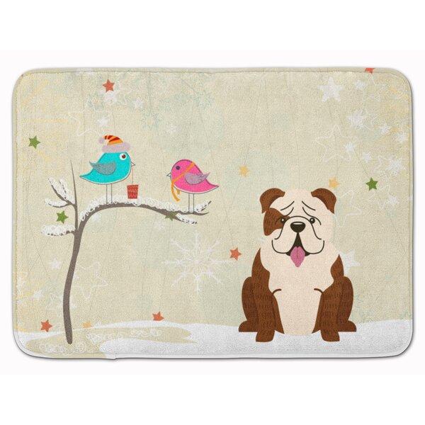 Silloth Christmas English Bulldog Brindle Memory Foam Bath Rug