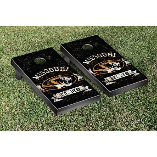 NCAA Vintage Version Banner Cornhole Game Set by Victory Tailgate