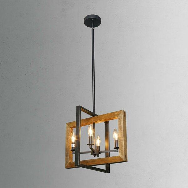 Basile 4 - Light Lantern Rectangle Chandelier by Gracie Oaks Gracie Oaks