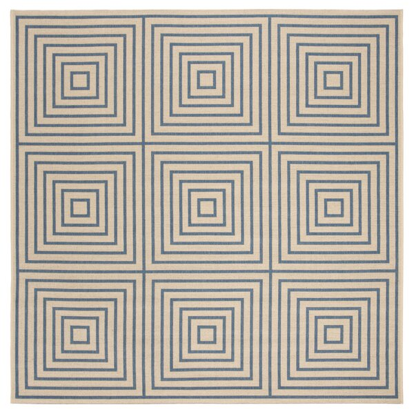 Horne Cream/Blue Area Rug by Brayden Studio
