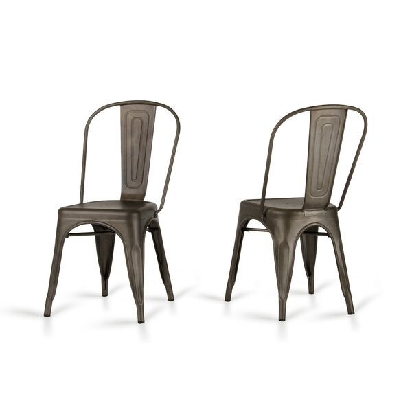 Drummond Rust Metal Dining Chair (Set of 2) by Laurel Foundry Modern Farmhouse