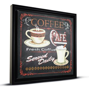 'Coffee Café' Framed Vintage Advertisement by Crystal Art Gallery