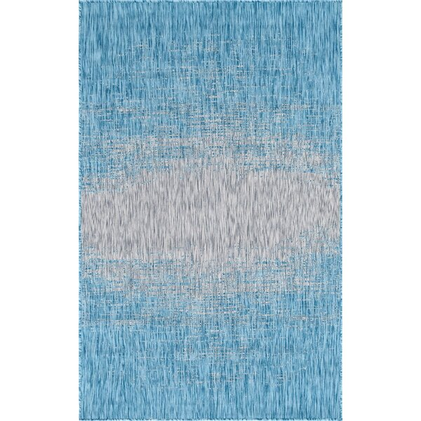 Datto Blue/Gray Indoor/Outdoor Area Rug by Wrought Studio