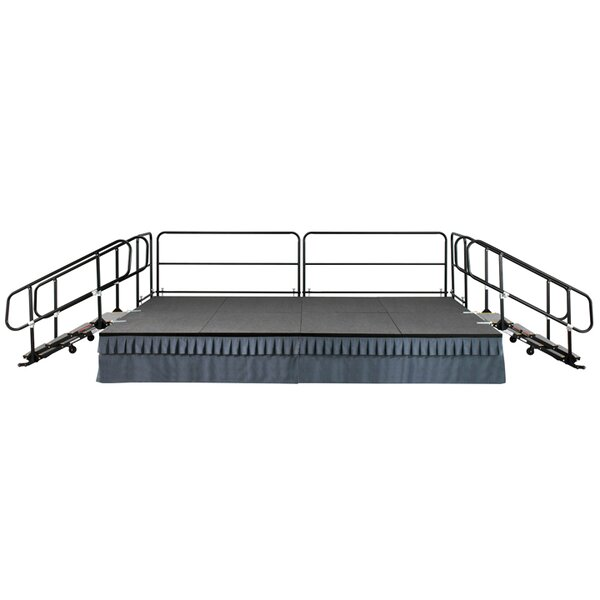 Tri-Height Stage with Reversible Deck by SICOAmerica