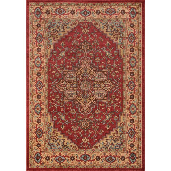 Miller Red Area Rug by Charlton Home