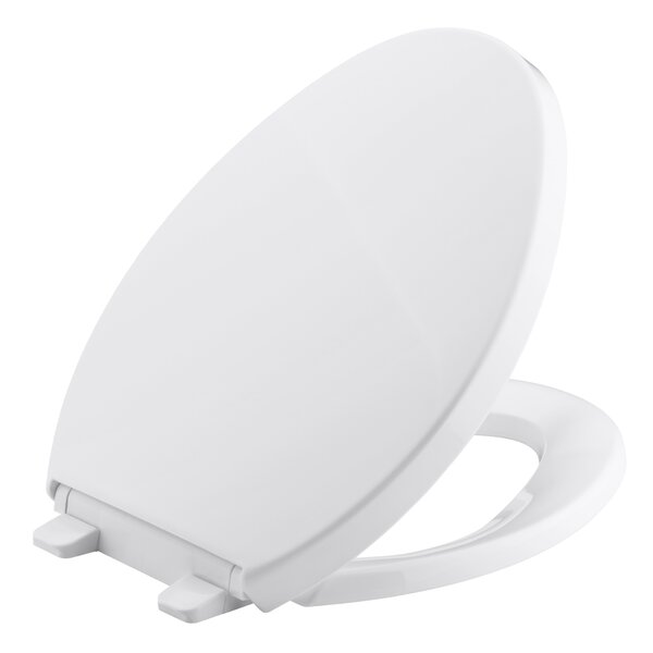 Saile Quiet-Close with Grip-Tightelongated Toilet Seat by Kohler
