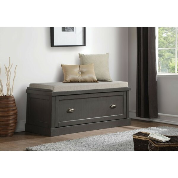 Alcantara Upholstered Storage Bench by Canora Grey