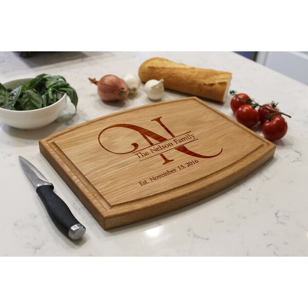 Arched Oak Wood Cutting Board by Etchey