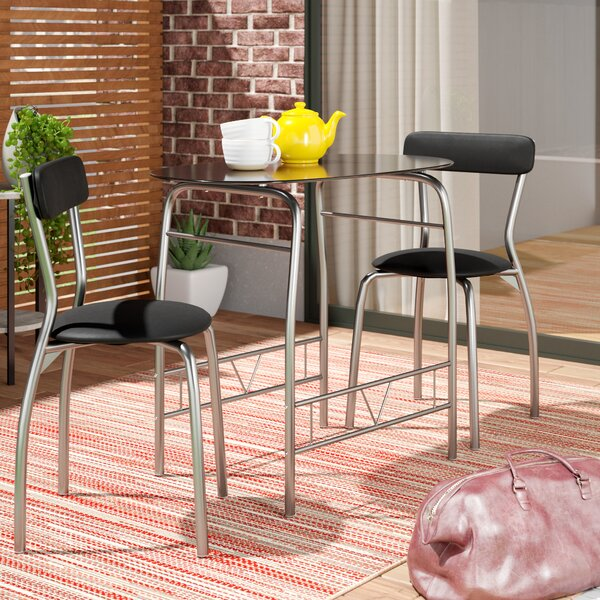 Paugh Space Saver 3 Piece Bistro Set by Ebern Designs