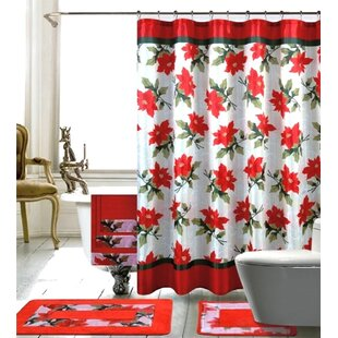 Best Price Christmas Shower Curtain Set By The Holiday Aisle