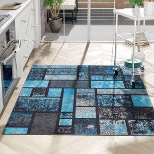 Emmaline Modern Turquoise Area Rug ByZipcode Design
