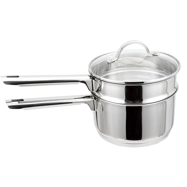 Cosette Stainless Steel Double Boiler Set with Lid by Symple Stuff