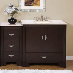 "Bathroom Vanities Set silkroad exclusive ilene 54"" single bathroom vanity set & reviews"