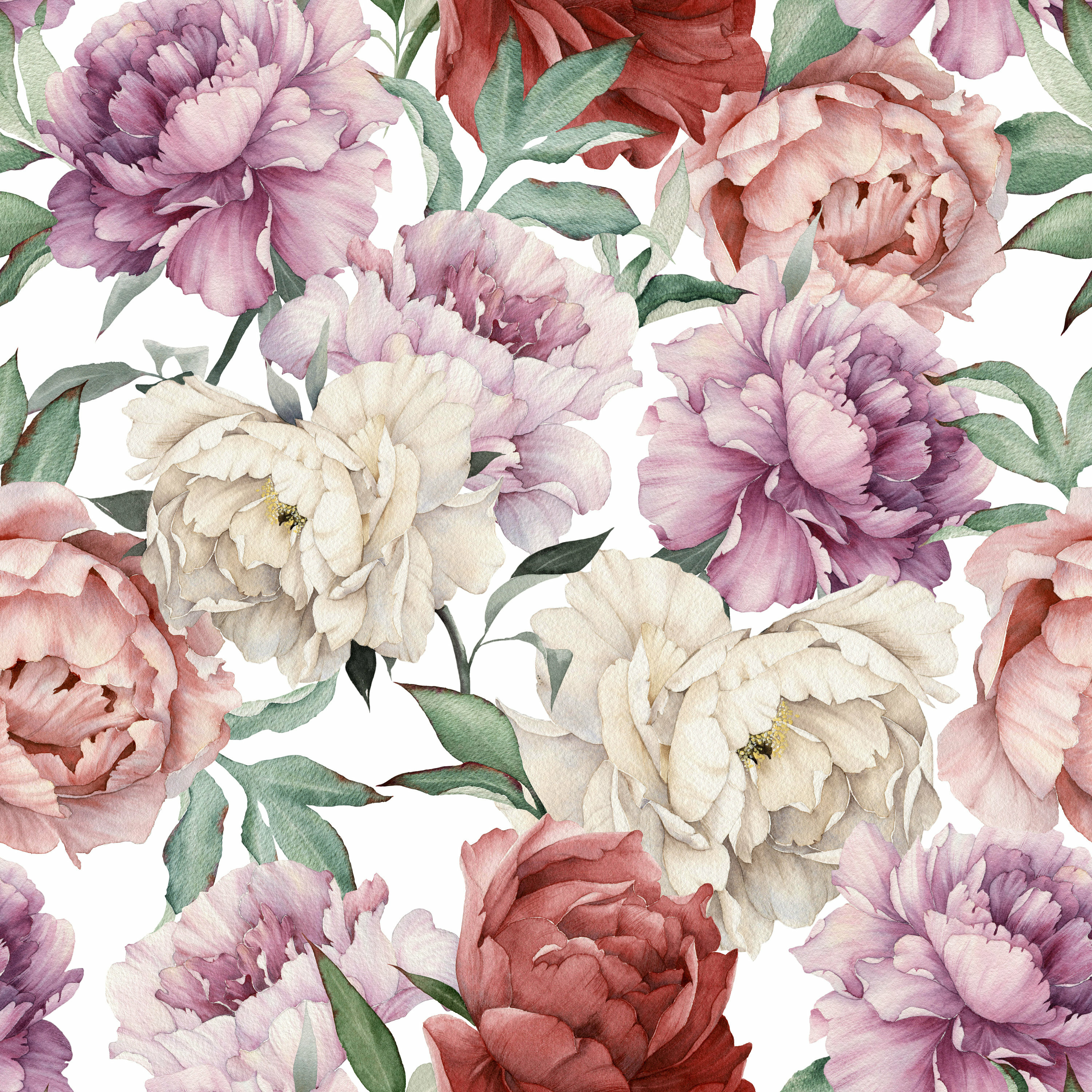 House Of Hampton Kelvin Removable Giant Watercolor Peony Flowers