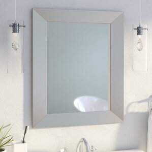 Modern Rectangle Wood Wall Mirror Vanity Mirrors You ll Love  Wayfair