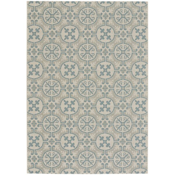 Bainsbury Blue Indoor/Outdoor Area Rug by Three Posts