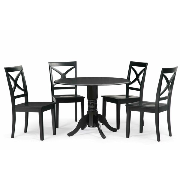 Pomerleau 5 Piece Drop Leaf Dining Set by Andover Mills