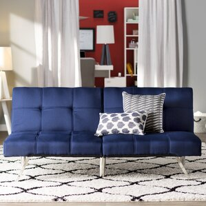 Reviews Zipcode Design Piper Upholstered Convertible Sofa
