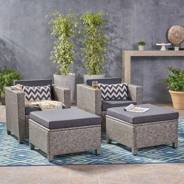 Hengrove Patio Chair with Cushion (Set of 2) by Brayden Studio