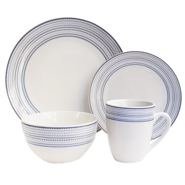 Ingraham 16 Piece Dinnerware Set, Service for 4 by Charlton Home