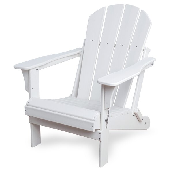 Alger Resin Folding Adirondack Chair by Highland Dunes