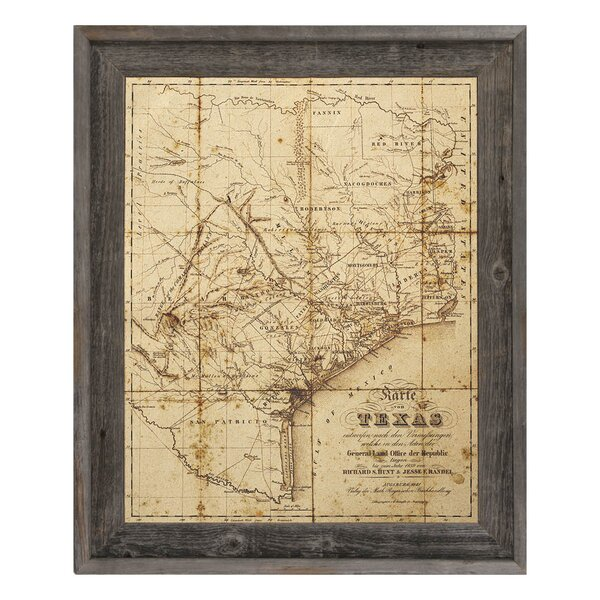 Framed Texas Map | Wayfair