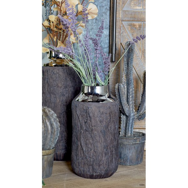 Wilclay Tree Bark Table Vase with Accent by Union Rustic