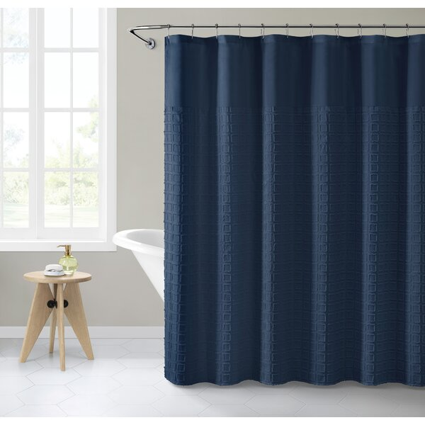 "Light Gray Fabric Shower Curtain 70/"" x 72/"" Wide Stripe Design"